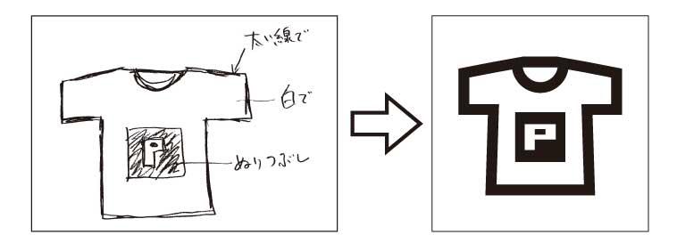手描きラフデザイン